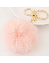 Fashion Pink Fur Ball Pendant Decorated Simple Design