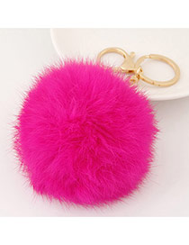 Fashion Plum Red Fur Ball Pendant Decorated Simple Design