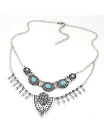 Exaggerate Anti-silver Geometric Shape Pendant Decorated Simple Design