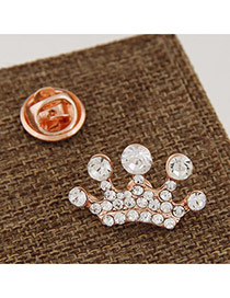 Fashion Gold Color Crown&collar Button Decorated Simple Design