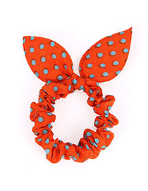 Cute Orange Dot Patttern Bowknot Shape Design Rubber Band Hair Band Hair Hoop