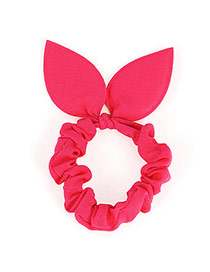 Pretty Plum Red Pure Color Bowknot Shape Design Rubber Band Hair Band Hair Hoop