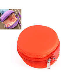Candy Color Red Round Shape Decorated Simple Design Silica Gel Wallet