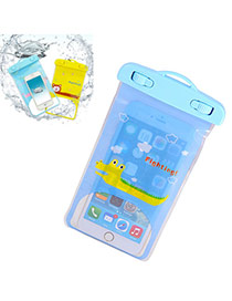 Transparent Blue Waterproof Phone Pocket Simple Design Pvc Household Goods