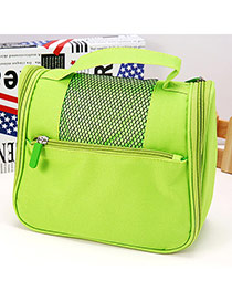 Pluggable Green Multifunctional Wash Bag Simple Design Oxford Fabric Household goods