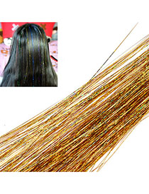 Fashion Gold Color Multilayer Simple Design Silk Thread Wigs