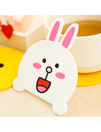 Creative White Rabbit Pattern Simple Design  Silica Gel Household goods