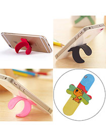 Creative Multicolor Giraffe Pattern U-shape Simple Design Alloy Phone holder