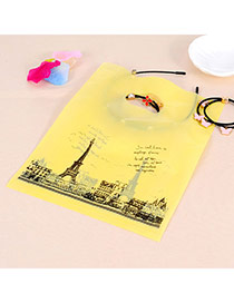 Pretty Yellow Eiffel Tower Pattern Descorated Simple Design Hdpe Jewelry Tools