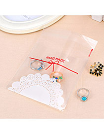 Sweet Transparent Color Lace & Bowknot Pattern Simple Design Polypropylene Jewelry Tools