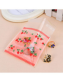 Sweet Pink Strawberry Pattern Simple Design Polypropylene Jewelry Tools