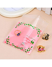 Sweet Pink Christmas Trees Pattern Simple Design Polypropylene Jewelry Tools