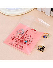 Sweet Pink&coffee Eiffel Tower Pattern Simple Design Polypropylene Jewelry Tools