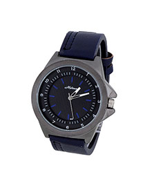 Bardian Navy Blue Double Dial Decorated Simple Design