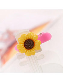 Sweet Yellow Sunflower Decorated Simple Design  Acrylic Hair clip hair claw
