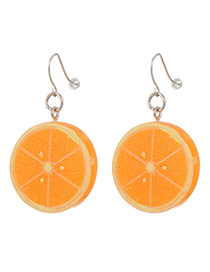 Personalized Yellow Orange Shape Decorated Simpe Design(small)