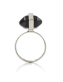 Personalized Black Bullet Shape Decorated Simple Design  Alloy Korean Rings