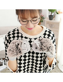 Fashion Gray Hedgehog Shape Simple Design  Woolen Full Finger Gloves