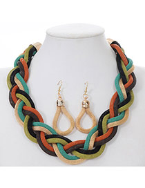 Fashion Multicolor Twist Weave Hollow Out Design