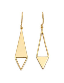 Personality Gold Color Gemetrical Shape Dissymmetry Design Alloy
