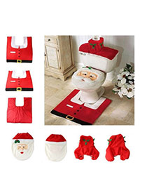 Personalized Red+white Santa Claus Pattern Decorated Simple Design
