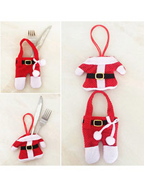 Personalized Red+white Clothes Shape Simple Design