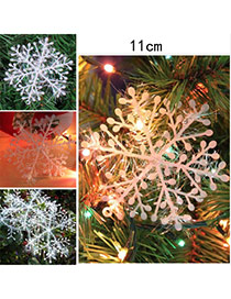 Lovely White Pure Color Snowflake Shape Design