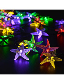 Personality colorful LED bubble starfish shape decorated solar panel design Acrylic Festival Party Supplies