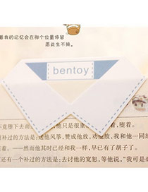 Personality White Collar Shape Simple Design Alloy Other Creative Stationery