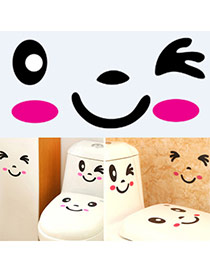 Personality Black+plum Red Facial Expression Pattern Simple Design  Pvc Scratch Pad Sticky