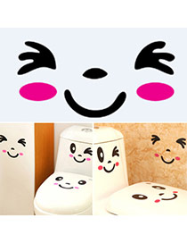 Personality Black+plum Red Facial Expression Pattern Simple Design