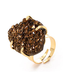 Personality Brown Irregular Stone Decorated Simple Design