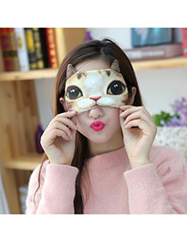 Cute Yellow Cartoon Cat Shape Decorated Simple Design Eyepatch  Flannelette Household goods
