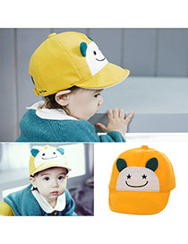 Cute Yellow Cartoon Small Ears Decorated Pure Color Design