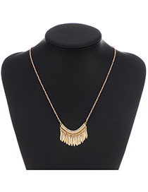 Fashion Gold Color Tassel Pendant Decorated Simple Design