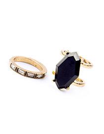 Fashion Rose Gold Diamond Decorated Geometry Shape Design(2pcs) Alloy
