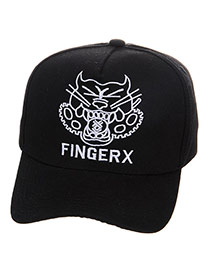 Fashion Black Embroidery Letter Decorated Simple Design  Canvas Baseball Caps