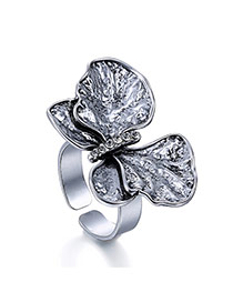 Vintage Anti-silver Butterfly Shape Decorated Open Design  Alloy Fashion Rings