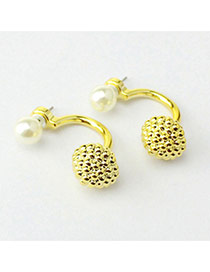 Personality Gold Color Candy Color Pearl Decorated Geometry Shape Design Acrylic