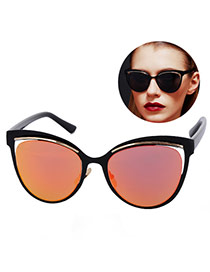 Personality Red Cat Eyes Shape Frame Simple Design Resin Women Sunglasses