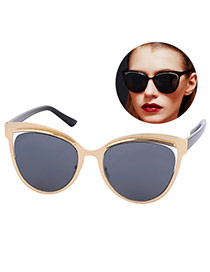 Personality Black Cat Eyes Shape Frame Simple Design Resin Women Sunglasses