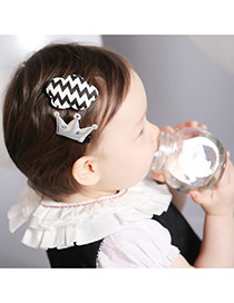 Sweet Silver Color Crown&cloud Shape Decorated Simple Design Pu Kids Accessories