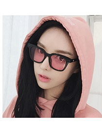 Fashion Tawny Square Shape Frame Decorated Simple Design Resin Women Sunglasses