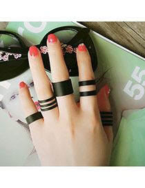 Fashion Black Pure Color Hollow Out Multilayer Design