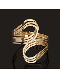 Trending Gold Color Pure Color Multilayer Opening Design