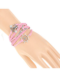 Trendy Pink Butterfly&eiffel Tower Decorated Multilayer Design