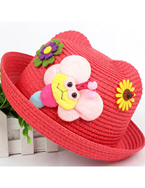 Lovely Red Bee&flower Decorated Crimping Design