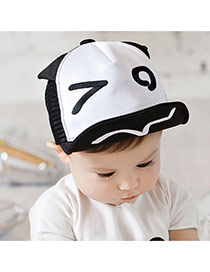 Lovely White Eye Pattern Decorated Hollow Out Design
