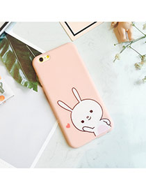 Fashion Pink Rabbit Pattern Design Dots Descendants Of The Sun Pu Iphone 6 Plus