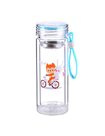 Trendy Sky Blue Wolf&rabbit Pattern Design Dots Descendants Of The Sun(300ml) Glass Household goods